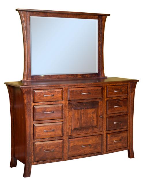 Ensenada 10 Drawer, 1 Door Dresser with Mirror