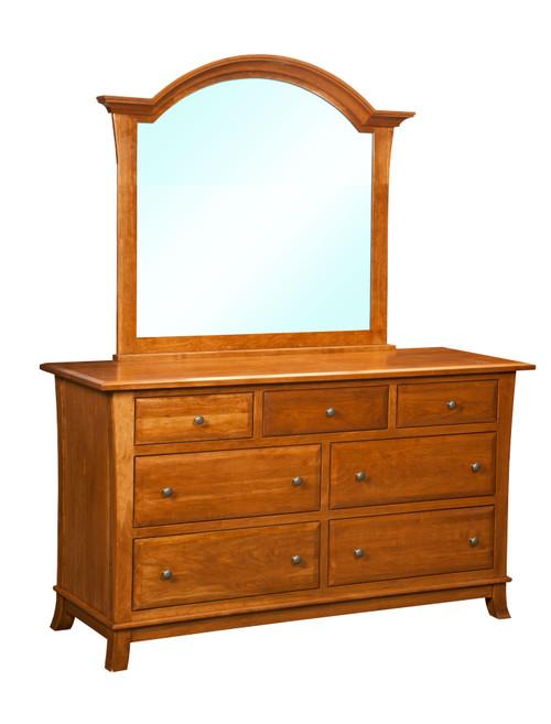 Hampton 7 Drawer Dresser and Mirror