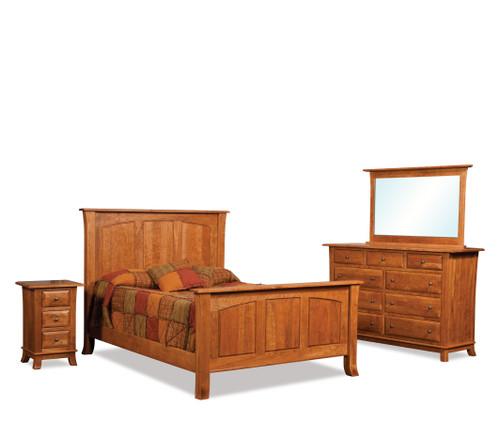 Hampton 9 Drawer Dresser shown with Hampton Bed and Hampton Nightstand II