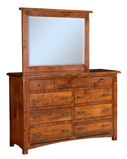 LaVega 9 Drawer Dresser and Mirror with Cap