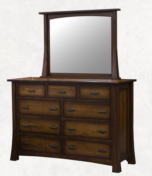 Princeton 9 Drawer Dresser with Mirror