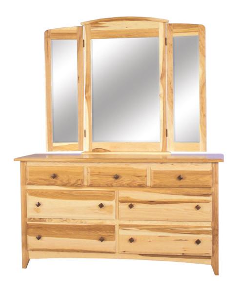 Shaker 7 Drawer Dresser with Tri-View Mirror