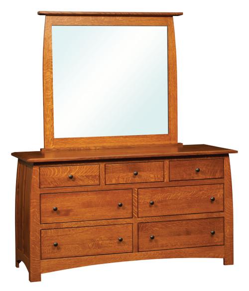 Superior Shaker 7 Drawer Dresser with Mirror
