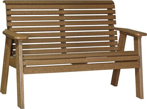 Antique Mahogany 4' Plain Bench