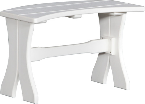 """White 28"""" Table Bench"""