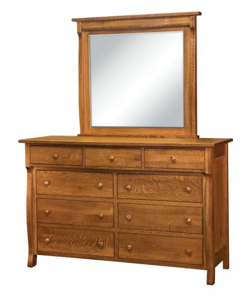 "Wellington 9 Drawer Dresser with 44"" x 41 1/2"" Mirror"