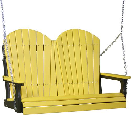 Yellow & Black 4' Adirondack Swing