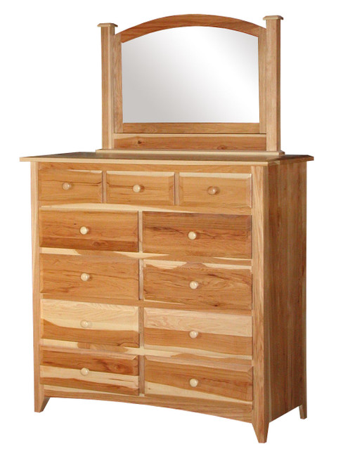 Shaker Mule Chest with Cheval Mirror