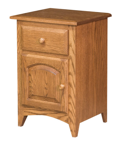 Shaker Nightstand II - shown in Oak with Old World Mission stain