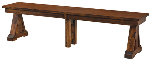"""Bailey Bench - 42"""" x 72"""" shown in Brown Maple with Earthtone, 10 Sheen"""
