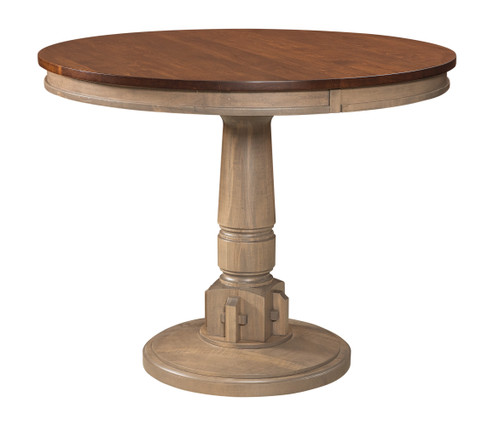 Bellaire Pub Table - shown in Maple, top in Asbury, base in Antique Slate