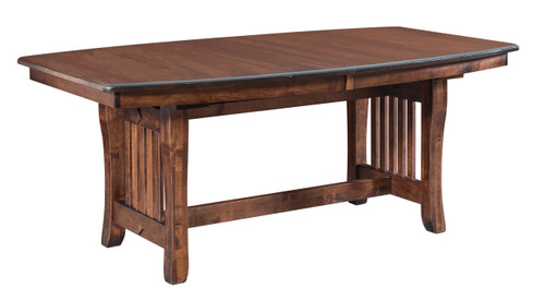 Berkley Trestle Table - shown in Brown Maple with Distressed Tavern Finish