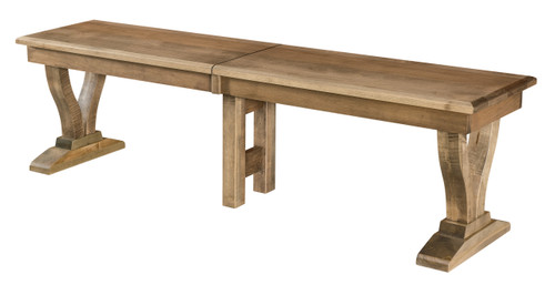 Brooklyn Bench - shown in Brown Maple with Sandstone Finish