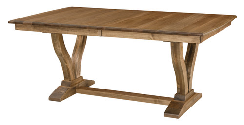 Brooklyn Trestle Table - shown in Brown Maple with Sandstone Finish
