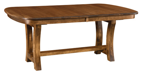 Camp Hill Trestle Table - shown in Brown Maple with Almond / 10 Sheen