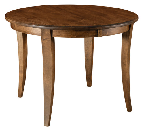 Chalet Leg Table - shown in Brown Maple with Almond/10 Sheen