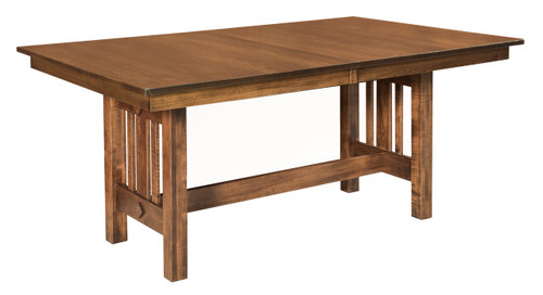 Eco Trestle Table - shown in Brown Maple with FC 40592 Earthtone
