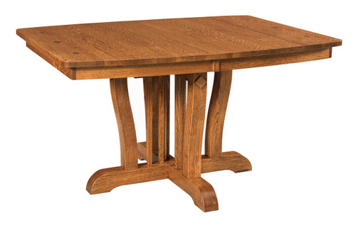Grand Central Pedestal Table - shown in Quarter Sawn White Oak with FC 10749 Autumn Leaf