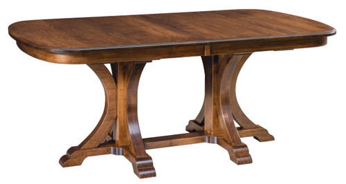 Granite Double Pedestal Table - shown in Hard Maple with Manchester Finish