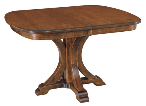 Granite Single Pedestal Table - shown in Hard Maple with Manchester Finish