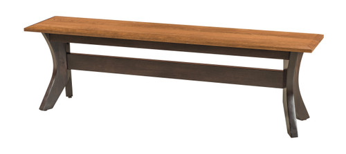 Harper Bench - top shown in Golden Walnut base in Onyx