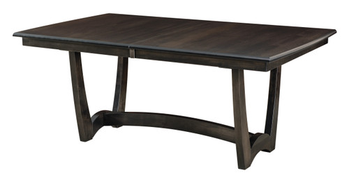 Hartford Trestle Table II - shown in Brown Maple with Dark Knight Finish