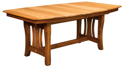 Hearthside Trestle Table - shown in Hickory