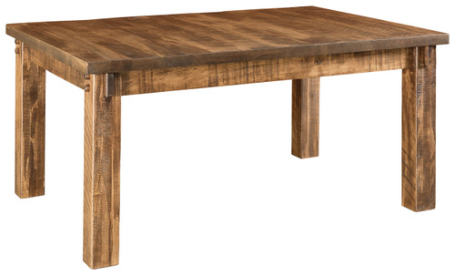 Houston Leg Table - shown in Rough Sawn Brown Maple with FC4200 Almond
