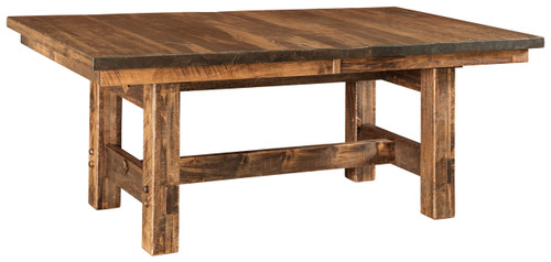 Houston Trestle Table - shown in Rough Sawn Brown Maple with FC42000 Almond