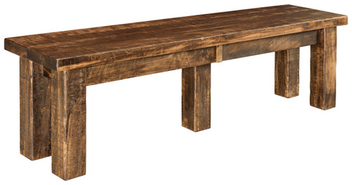 Houston Bench - shown in Rough Sawn Brown Maple with FC42000 Almond