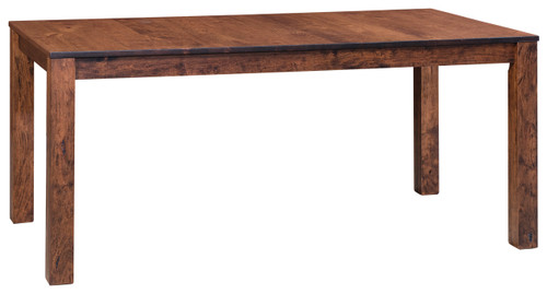 Manhattan Leg Table - Shown in Rustic Cherry with Earthtone Low Sheen