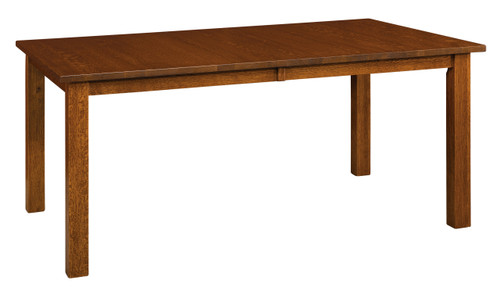 Mission Leg Table II - shown in Quarter Sawn White Oak with Vintage Antique Finish