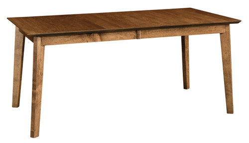 Monterey Leg Table - shown in Brown Maple with FC 42000 Almond 10 sheen