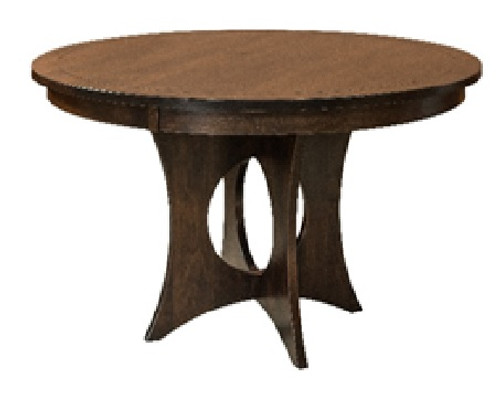 Silverton Pedestal Table - Brown Maple with Earthtone Finish
