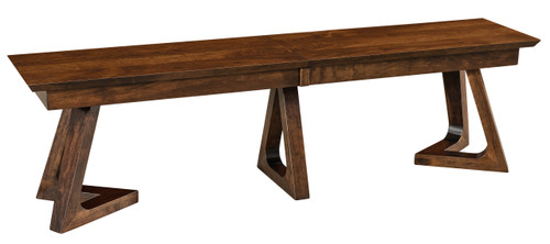 Venice Bench - shown in Rustic Cherry with Earthtone 10 Sheen