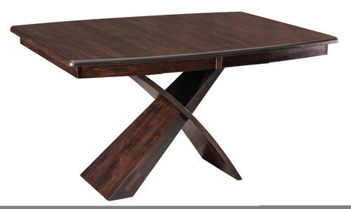 Xanterra Pedestal Table - shown in Brown Maple with Briar Finish