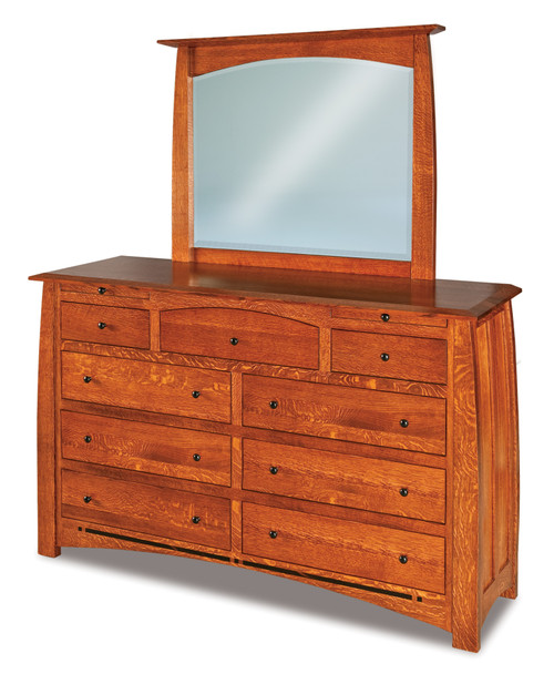 Boulder Creek 9 Drawer Dresser with Jewelry Drawer and Beveled Mirror