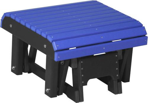 Blue & Black Glider Footrest