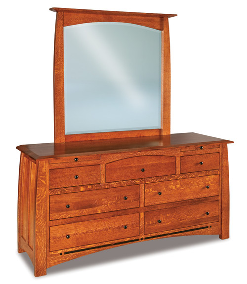 Boulder Creek 7 Drawer Dresser with Jewelry Drawer and Beveled Mirror