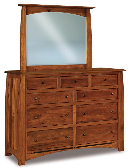 Boulder Creek 9 Drawer Dresser with Beveled Mirror V