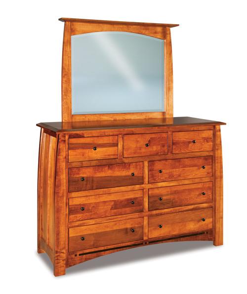 Boulder Creek 9 Drawer Dresser with Beveled Mirror