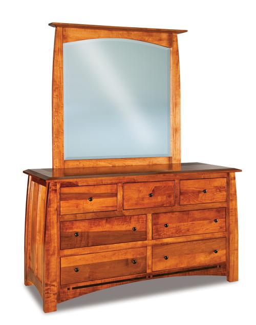Boulder Creek 7 Drawer Dresser with Beveled Mirror
