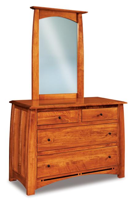 Boulder Creek 4 Drawer Dresser with Beveled Mirror