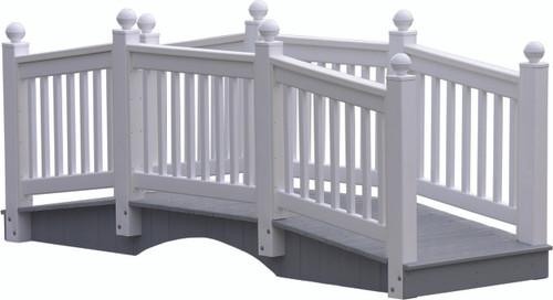 White 12' Classic Vinyl Bridge