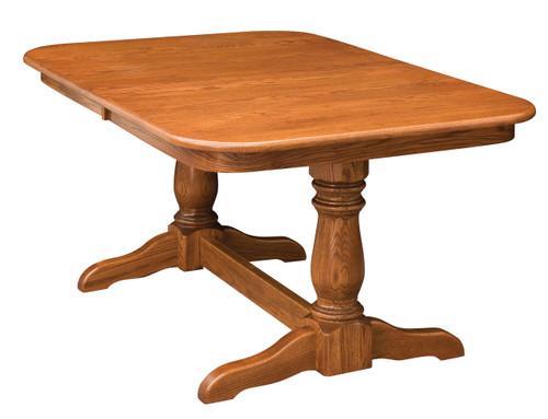 Dutch Double Pedestal Table