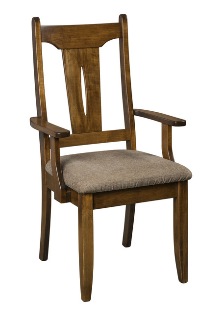Sierra Arm Chair - shown in Brown Maple with OCS 117 Asbury Stain and fabric seats