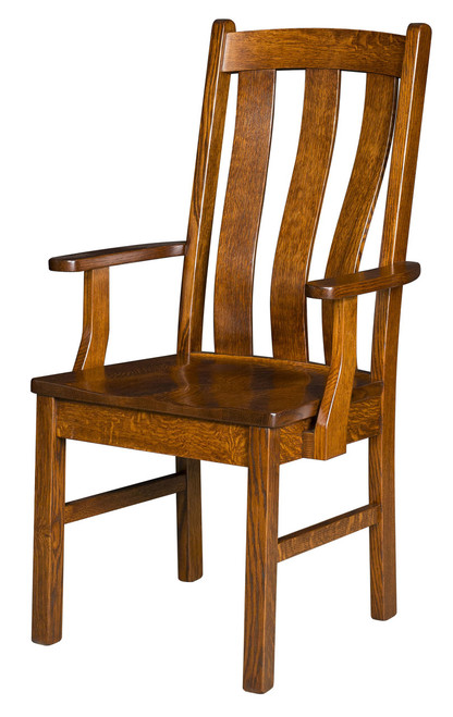 Vancouver Arm Chair - shown in Quarter Sawn Oak with OCS 113 Michael's Stain