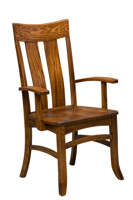 Warren Arm Chair with optional Round Over Edge - shown in Oak with Lite Asbury Stain