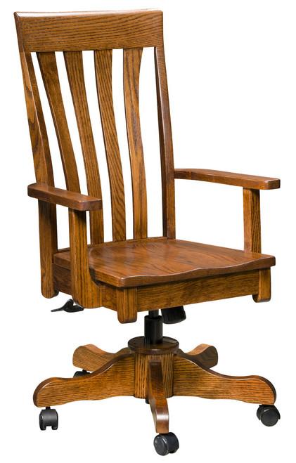 Canterbury Desk Chair - shown in Oak with Lite Walnut Stain