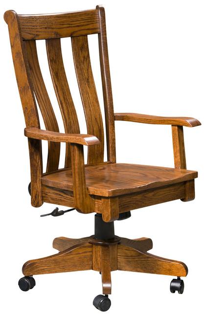 Coronado Desk Chair - shown in Oak with Oak with Lite Walnut Stain
